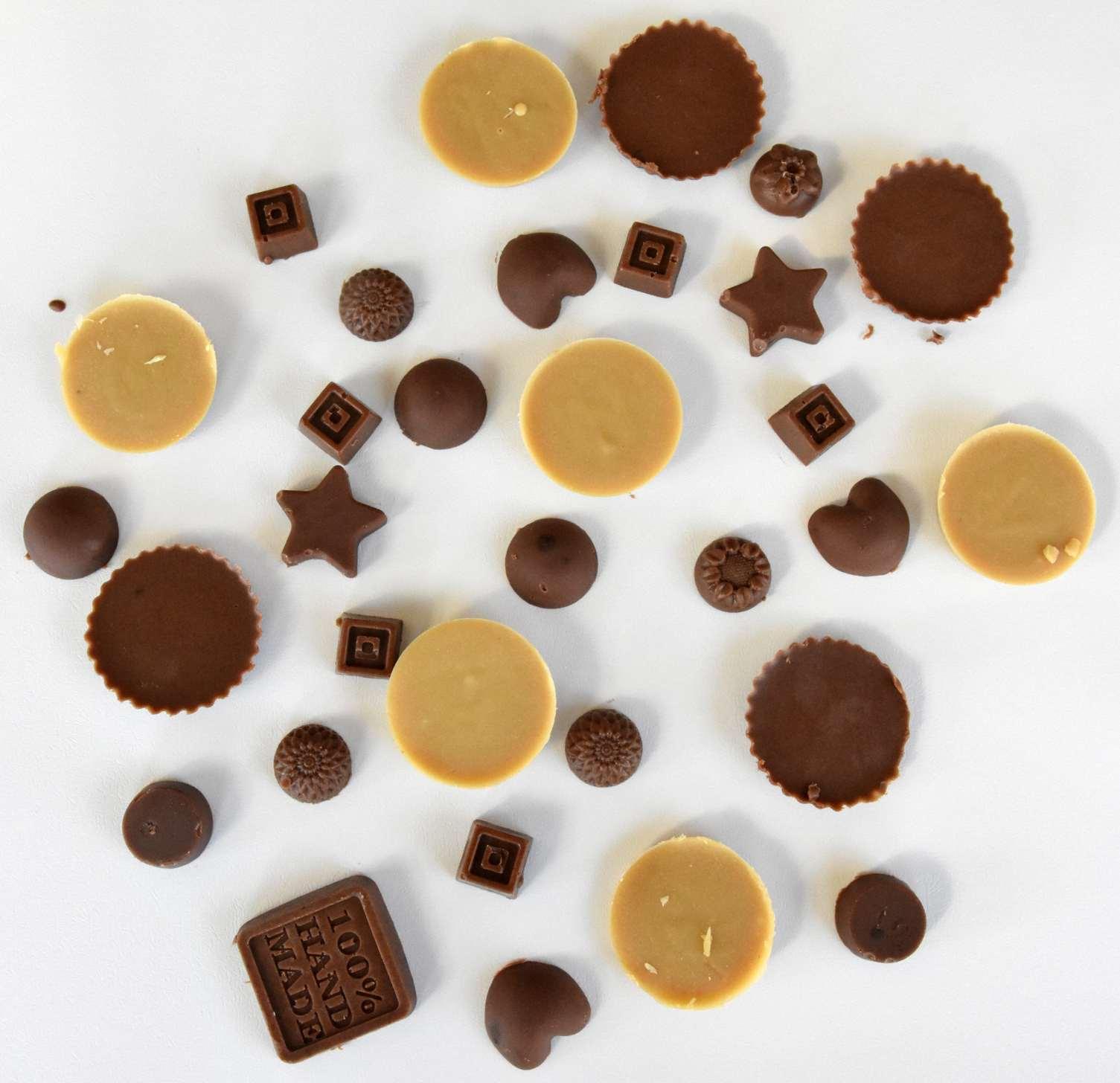 פרלינים של שוקולד ביתי