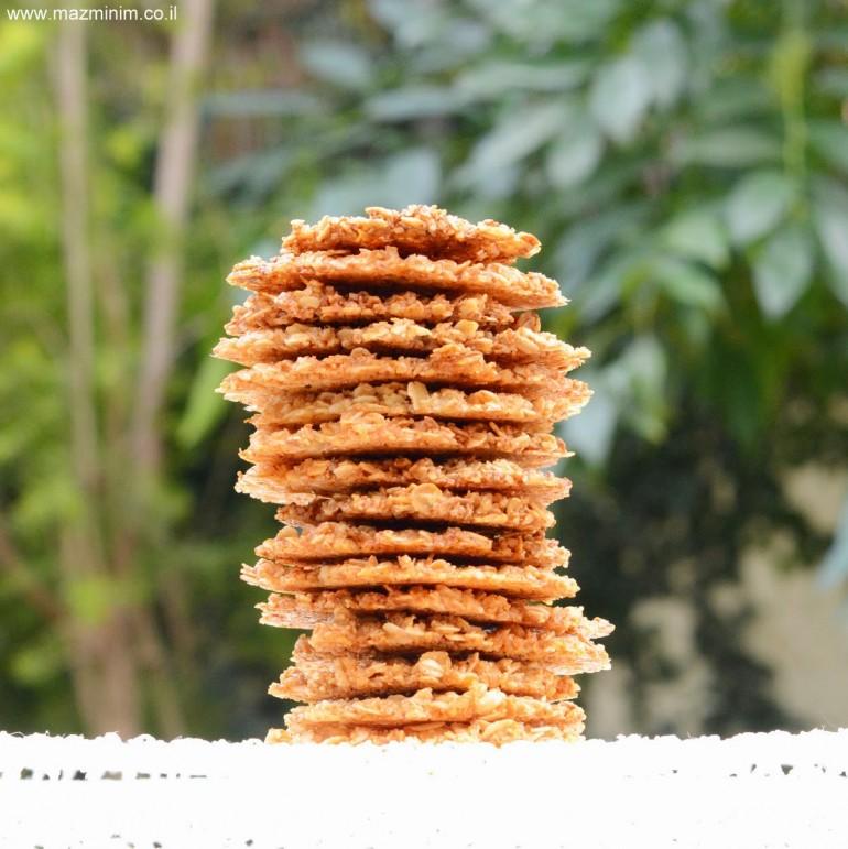 עוגיות תחרה קריספיות