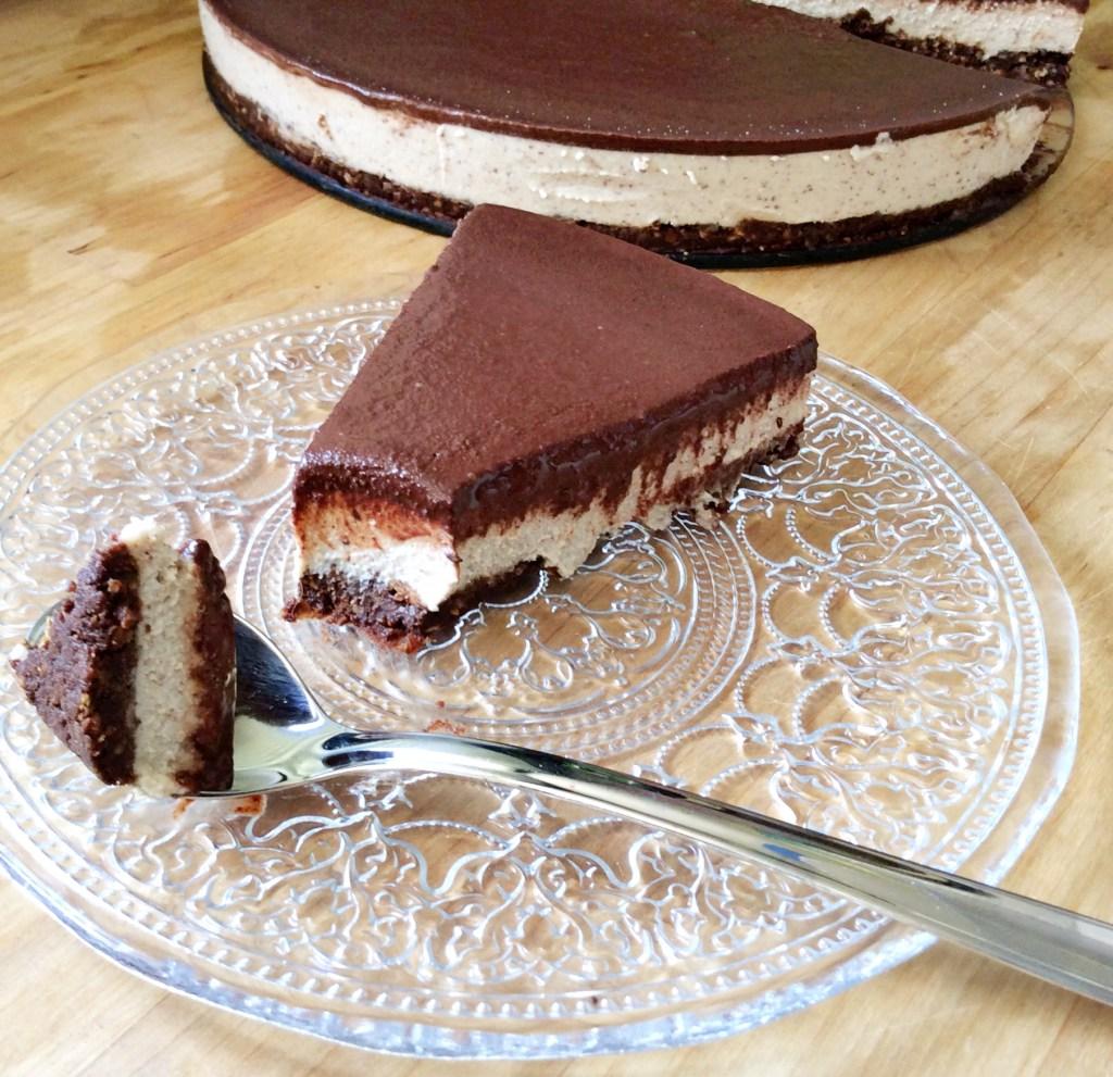 עוגת גבינה שוקולד טבעונית