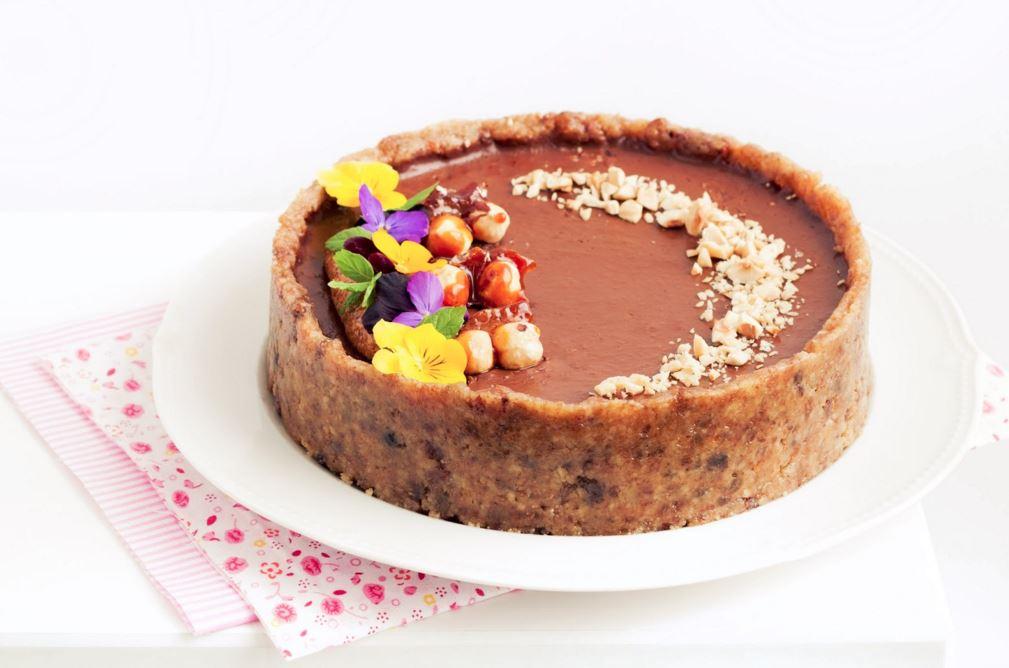 עוגת שוקולד, בננה, ופרלינה אגוזי לוז