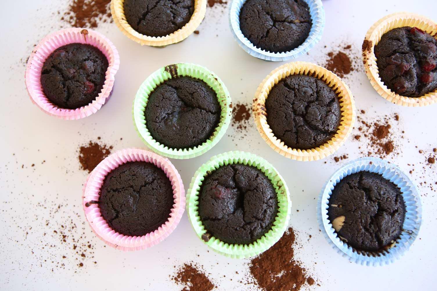 מאפינס שוקולד מקמח טף