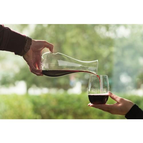 זוג כוסות יין אדום מפלסטיק איכותי