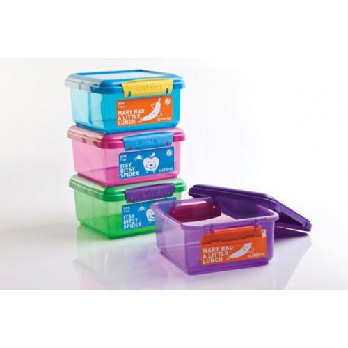 לאנצ'- אחסונית לארוחה 1.2 ליטר מעורב צבעים