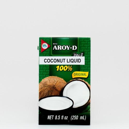 """מי אגוז קוקוס, 250 מ""""ל, Aroy-D"""