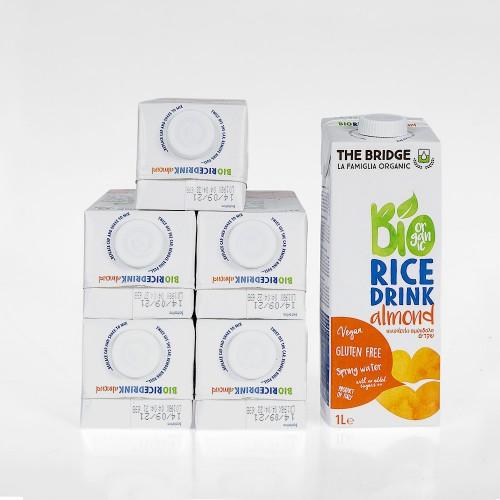 ארגז 6 יחידות - משקה אורז אורגני בתוספת שקדים  - The Bridge
