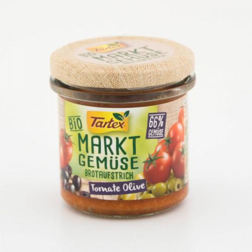 ממרח ירקות השוק אורגני - זיתים ועגבניות (Tartex)