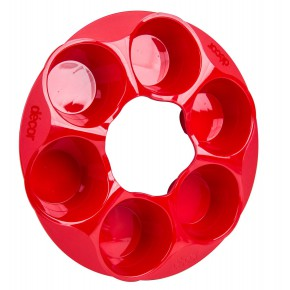 דקור מיקרו - תבנית 6 קפקייקס לאפייה במיקרו-אדום