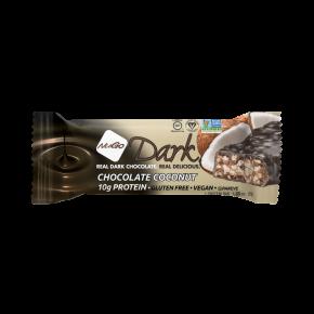 חטיף על בסיס חלבון סויה בטעם קוקוס מצופה שוקולד מריר ללא גלוטן
