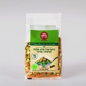 מיקס אורז מלא אפונה ועדשים